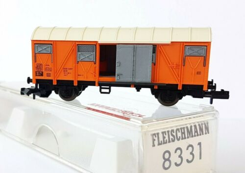 Grs 204 N 8331 orange FLEISCHMANN Ged 2-achs Güterwagen OVP