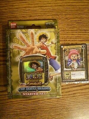 Promo One Piece CCG Quest Begins Starter Set Deck Exclusive Cards not in Packs