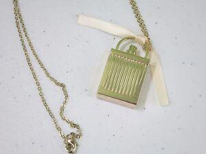 80d111c5 Details about CHLOE Love Story Gold Perfume Bottle Necklace NWOT
