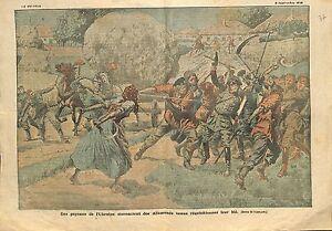 PAYSANS-REVOLTES-UKRAINE-GERMAN-SOLDIERS-GERMANY-FELDGRAU-WWI-ILLUSTRATION-1918