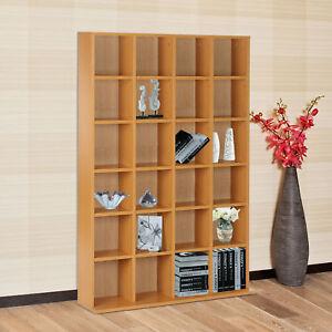 Storage-Shelf-CD-DVD-Media-Shelves-Rack-Unit-Stand-Video-Wood-Bookcase-Furniture