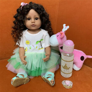 """22""""Full Body Silicone Soft Touch Reborn Baby Doll Toddler Girl Doll Gift for Kid"""