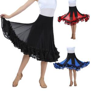 Ballroom-Dance-Costume-Skirt-Flamenco-Waltz-Modern-Standard-Practice-Dress