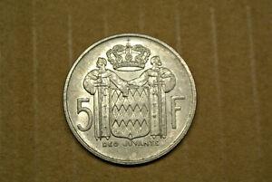 Monaco 5 Francs Argent 1960 Sup Admirè Chouette !!