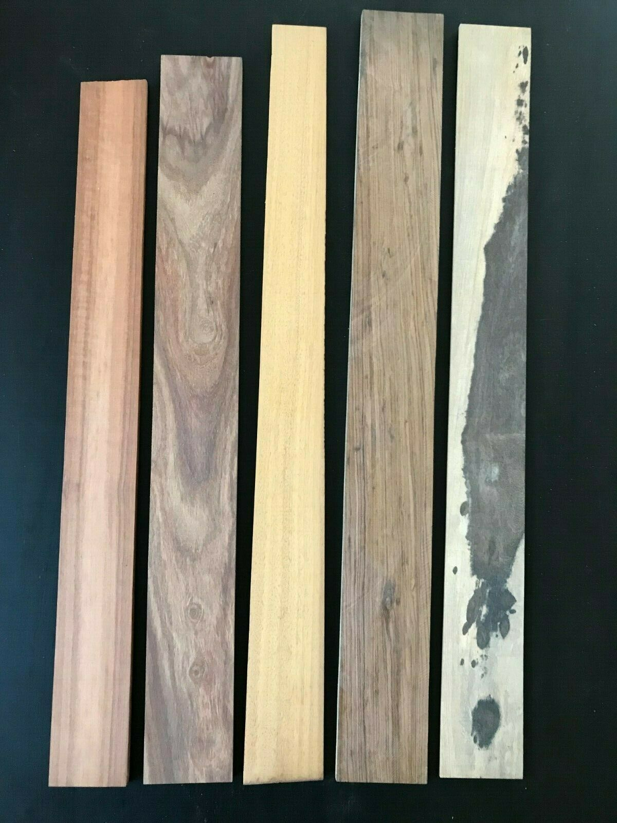 SALE 55% OFF – 5 BASS GUITAR FINGERBOARDS MIXED GRADING AND TONEWOOD LOT2