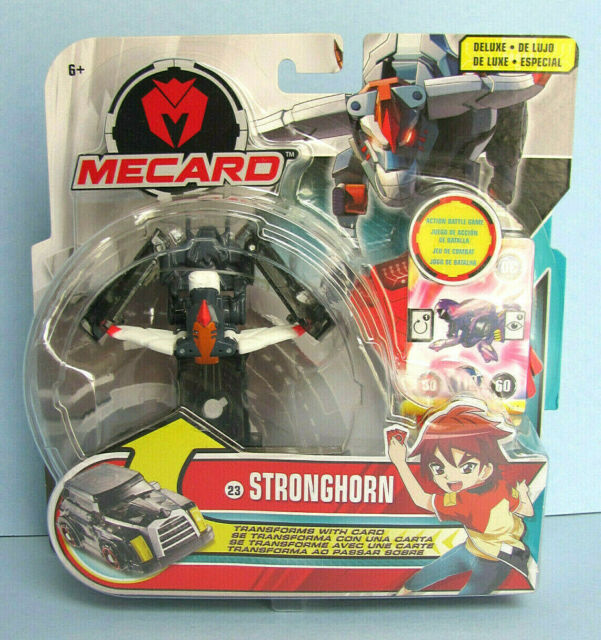 Mecard Deluxe Stronghorn #23 Mattel 2018 NEW NISP Action Battle Game Transform
