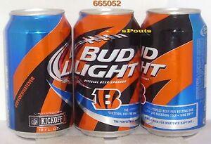 2015 NFL KICKOFF CINCINNATI BENGALS BUD LIGHT BEER CAN OHIO FOOTBALL ... 5cb6de2af