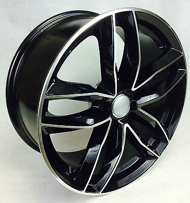 "18"" RS6 STYLE ALLOY WHEELS AUDI A4 B7 B8 A6 A6 S LINE TDI BLACK EDITION"