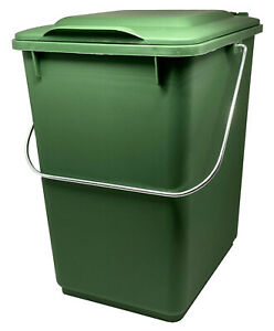 SULO Abfallsammler 10l Ku. grün M.klappdeckel für Bioabfall