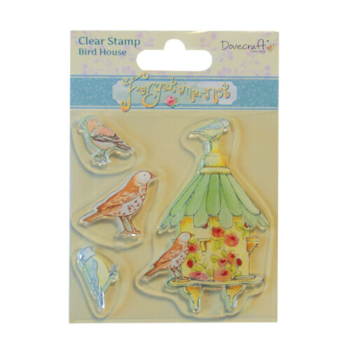 DOVECRAFT FORGET ME KNOT STAMPS BIRDHOUSE