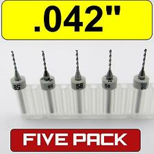 Five 042 107mm 58 Carbide Drill Bits 18 Shaft Cnc Pcb Model Hobby Rs