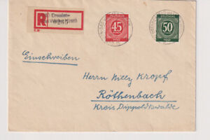Bibl. excl. MI. 931/32,Not-R - DRESDEN-Bathroom White Stag-röthenbach 14.9.46