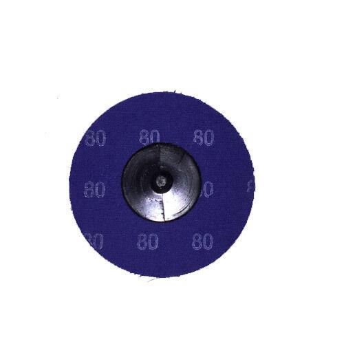 "100-3/"" Roloc A//O Quick Change Sanding Disc 80 Grit"