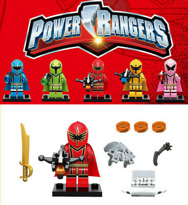 5 set Power Rangers with weapons Mini Figures Building ...