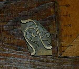 """""""h"""" Messingbuchstabe Initial Buchbinden Prägen Bookbinding Buchbinder Initiale Reinigen Der MundhöHle. Antiquitäten & Kunst"""