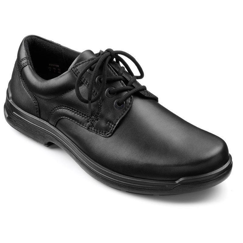 Mens Hotter lace-up Shoe Burton Black RRP £79