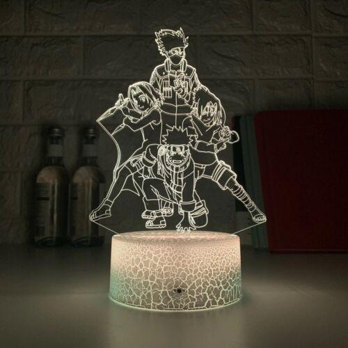 Japanese Manga Naruto 3d Lamp Night Light Figure Room Decor for Kids with remote