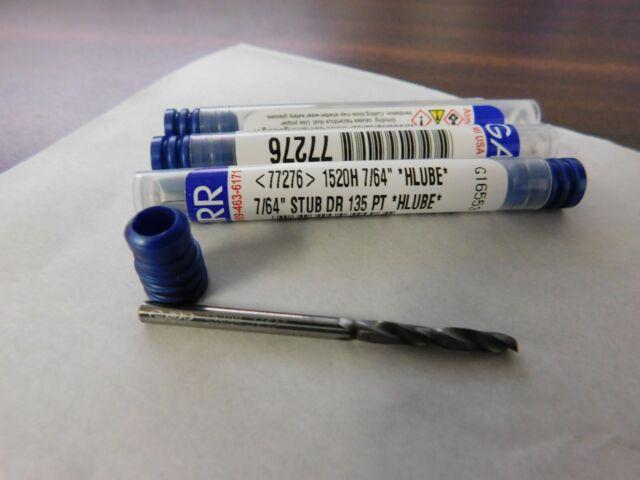 "Garr Tool Carbide Hard Metal Drills Series 1500 No 5 0.2055/"" Dia 2FL Qty 3 59485"
