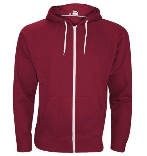 New Plain Men's American Fleece Zip Up Hoody Sweatshirt