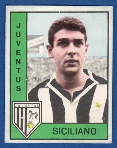 SICILIANO JUVENTUS FIGURINA CALCIATORI PANINI 1962//63