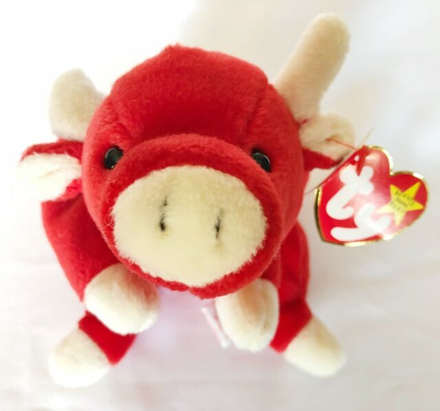 6a59274602e Ty Original Beanie Baby May 15 1995 Retired Snort The red Bull style   4002  rare