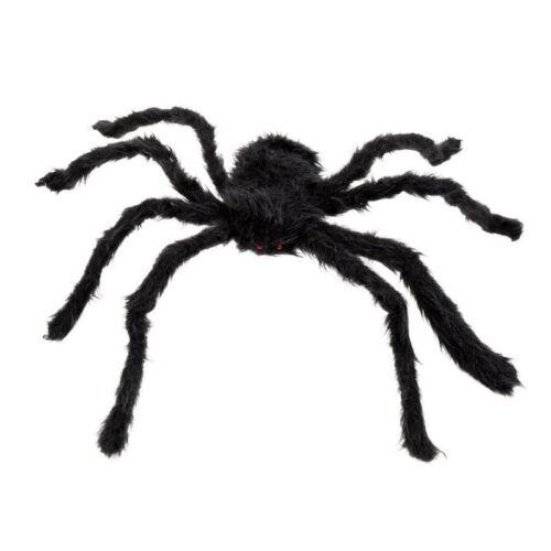 Decor Halloween O2O8 Nouveau 30cm Araignee noire Peluche Marionnette Jouet