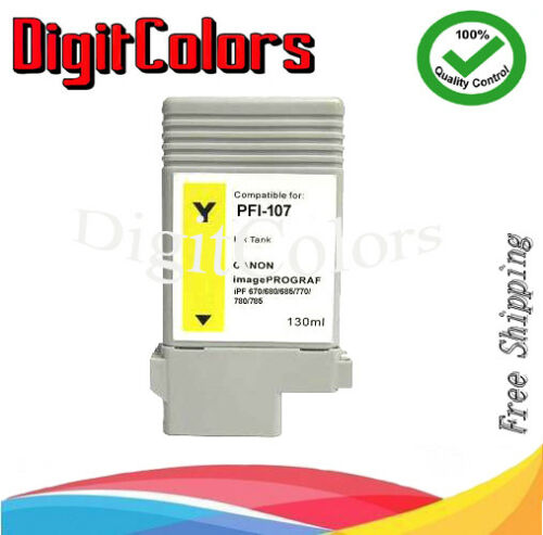 PFI-107  Set of 5 ink cartridge for use with canon iPF 770 780 785