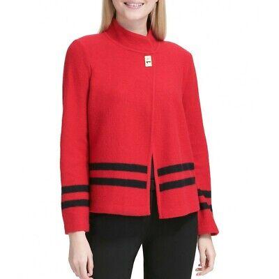 INC NEW Women/'s Caribbean Blue Striped Ombre Crewneck Sweater Top L TEDO