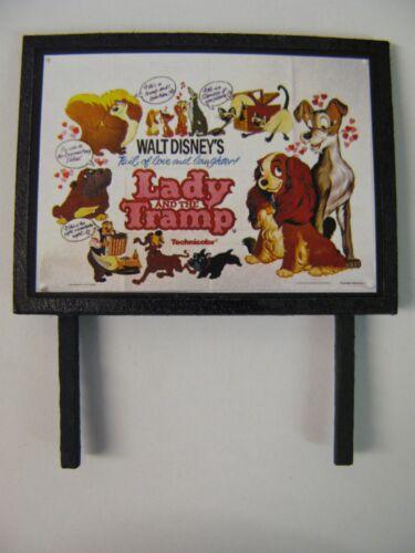 Lady and the Tramp Model Railway Billboard N Gauge /& OO Gauge Walt Disney