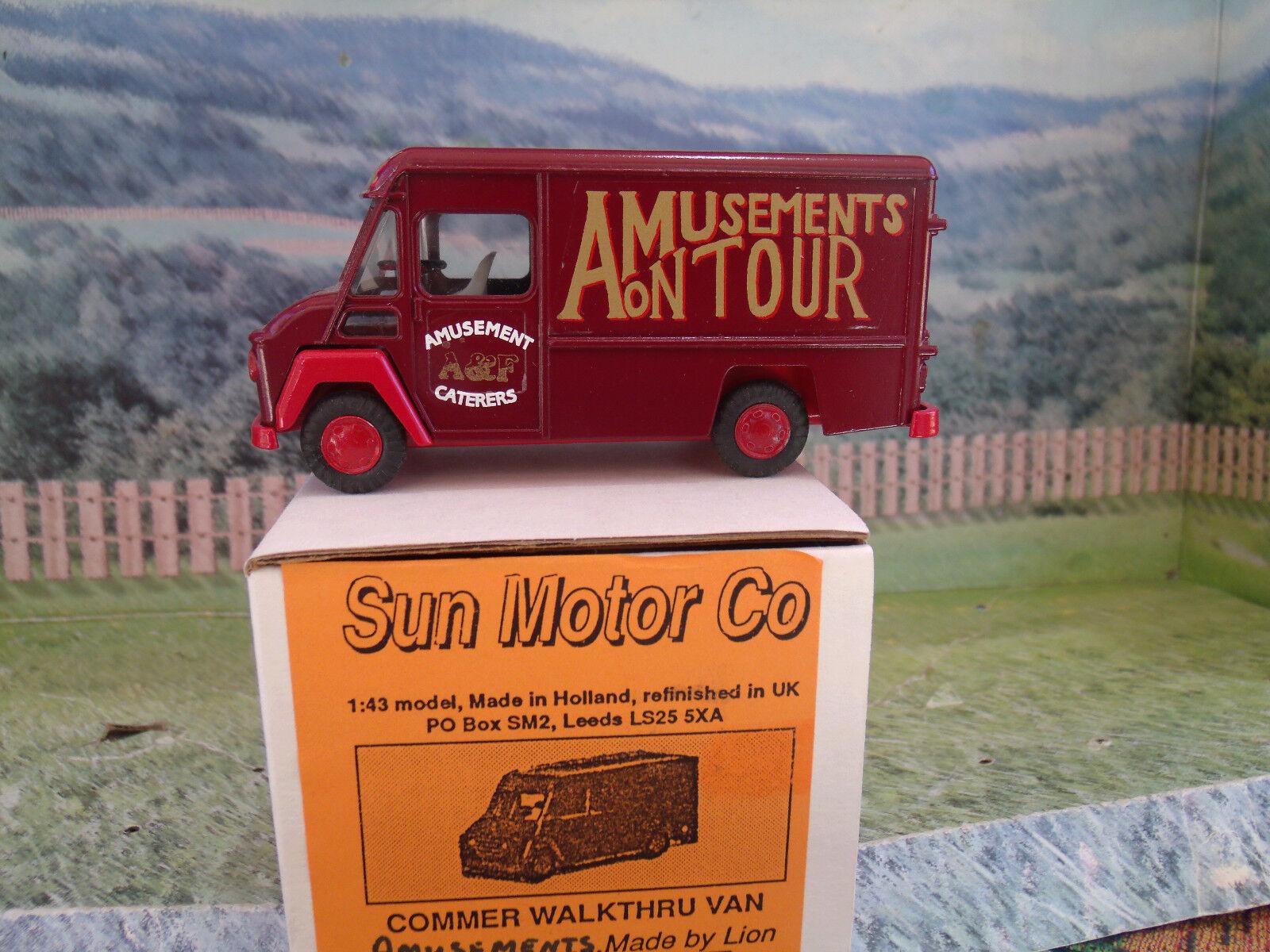 1/43 Sun Motor Co (Inglaterra). van Diversiones On Tour, handbult Modelo