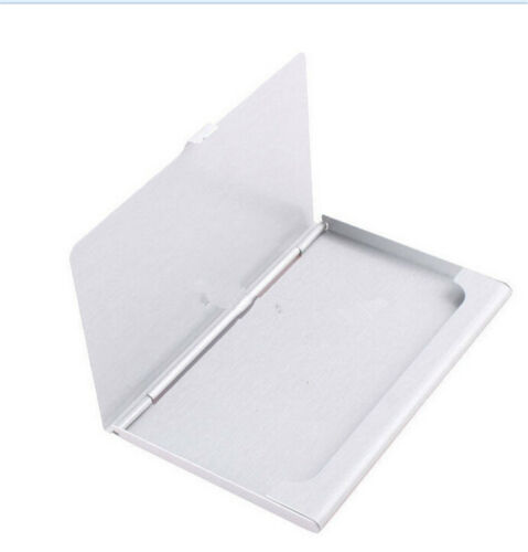 Stainless Steel Pocket Name Credit ID Business Card Holder Box Metal Case c7