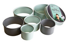 Jamie Oliver Cookie Baking Plain Round Pastry Biscuit Cookie Cutters, Set of 5