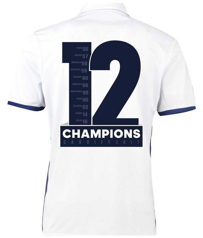 Trikot Real Madrid Home Champions League Final Final Final Cardiff 2017 - 12 Duodecima 16286f