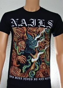 Details about N A I L S  (You Will Never Be One of Us) Band T-Shirt