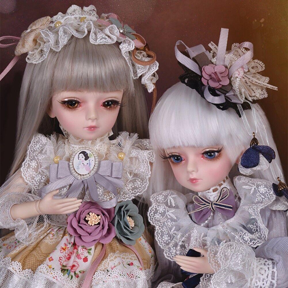 45cm 1 4 4 4 bjd bambola ragazza bambola VISO rendere-UP ABITO giocattolo con le bambole abito Wig 72c75c
