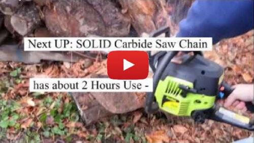 """SOLID CARBIDE Chainsaw ECHO 24/"""" 81DL CS600 CS610 CS601 CS650 72LGX081 SEE VIDEO"""