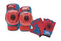 Bell Spiderman Kids Bike Accessory Pad/glove Set Free Shipping