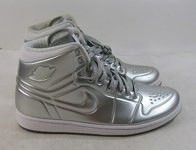 d867570b19353 new Air Jordan Aj 1 Anodized 414823 001 Metallic Silver Platinum Size 8.5