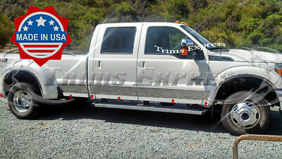 "TYGER For 11-16 Ford F250 SuperDuty Crew Cab Short Bed Rocker Panel Trim 6/"" 12PC"