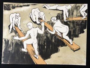 Thomas-succinico-attraverso-gole-farblithographie-1991-firmato-a-mano