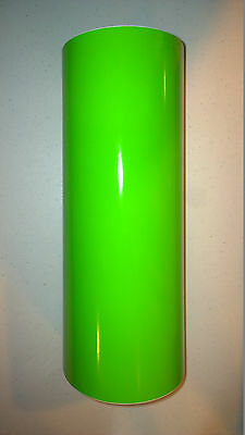 "Lime Green Vinyl 12"" Roll Sign Decal Sheet Series 5 High Gloss (window/wall)"
