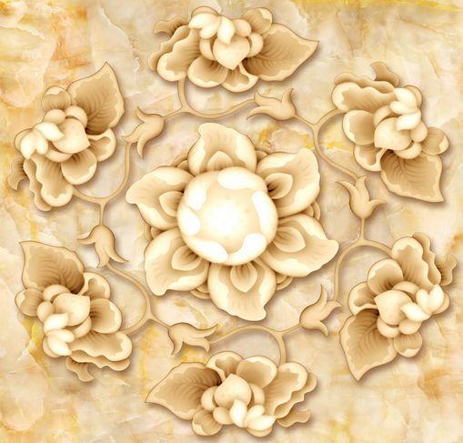 3D Jade Bloomy Lotus Floor WallPaper Murals Wall Print Decal 5D AJ WALLPAPER