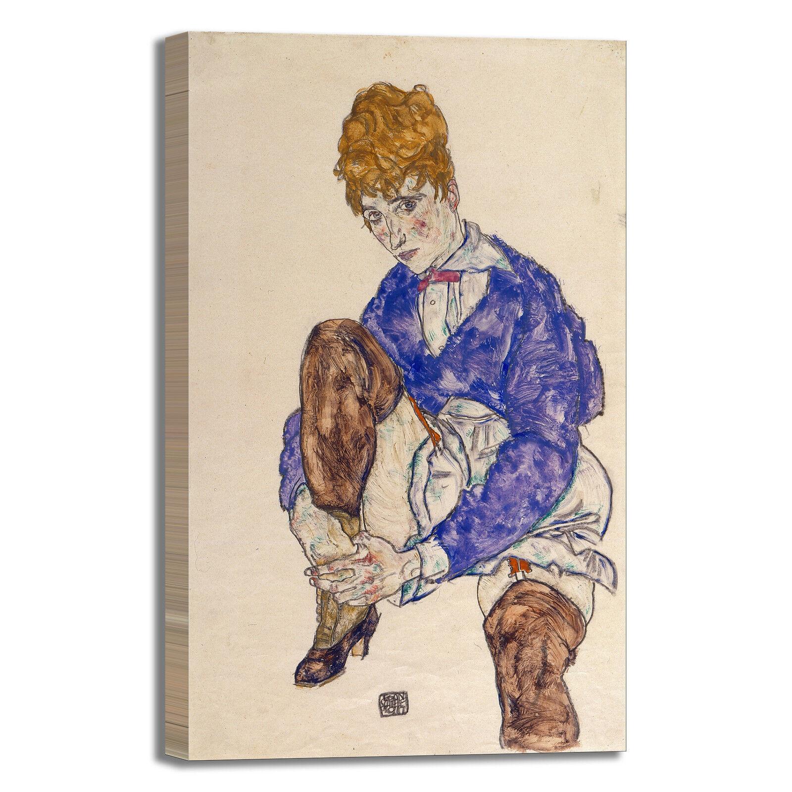 Schiele moglie seduta design design seduta quadro stampa tela dipinto telaio arRouge o casa 265018