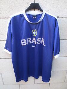 Maillot-BRESIL-BRASIL-vintage-NIKE-World-Cup-98-training-jersey-shirt-trikot-L