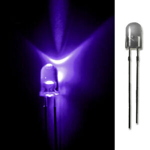 LED-5mm-UV-20-50-100-500-LEUCHTDIODEN-SUPERHELL-RUNDKOPF-AUSWAHL