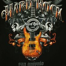 Hard Rock Cafe Mens Small San Antonio Texas TX Fender Guitar Music Black T Shirt