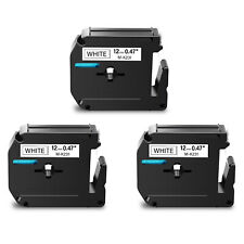 3pk Mk231 M K231 Black On White Label Tape For Brother P Touch Pt 65 12mm 12