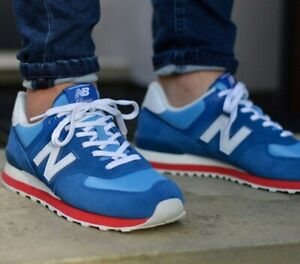 new balance 574 bleu rouge