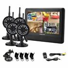 Wireless Security Spy Camera System 4CH IR Night Vision Indoor DVR CCTV 2.4GHz