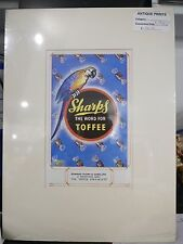 Original c1940's Vintage Advert mounted ready to frame Sharps Toffee